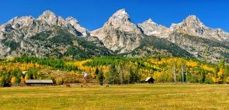 Opinión de la caída en el rancho Imagen de archivo libre de regalías