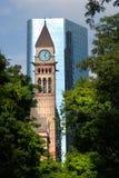Opinión de la calle, abajo ciudad, Toronto, Ontario, Canadá Fotografía de archivo