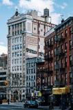 Opinión de la calle de Chanel de Chinatown en Lower Manhattan foto de archivo