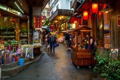 Opinión de la calle de la ciudad del fenqihu, chiayi foto de archivo