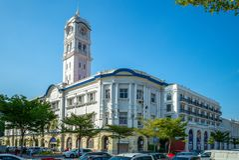 Opinión de la calle de la ciudad de George, Penang, Malasia imagen de archivo libre de regalías