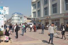 Opinión de la calle de Andijan fotos de archivo