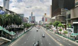 Opinión de la calle de Bangkok Imagen de archivo libre de regalías