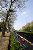 Opinión de la calle de Bruselas Imagen de archivo libre de regalías