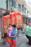 Opinión de la calle de Cheung Chau en Hong Kong Fotos de archivo