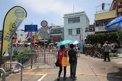 Opinión de la calle de Cheung Chau en Hong Kong Foto de archivo