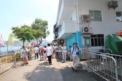 Opinión de la calle de Cheung Chau en Hong Kong Imágenes de archivo libres de regalías