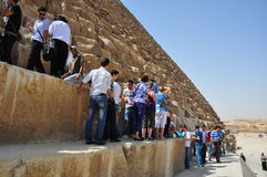 Opinión de la calle de Egipto El Cairo Fotos de archivo libres de regalías