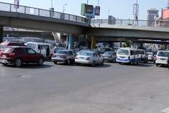 Opinión de la calle de Egipto El Cairo Foto de archivo