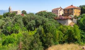 Opinión de la calle de Figari con las casas vivas coloridas imagen de archivo