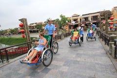Opinión de la calle de Hoi An en Vietname Imagen de archivo libre de regalías