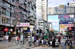 Opinión de la calle de Hong-Kong Foto de archivo libre de regalías