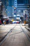 Opinión de la calle de Hong-Kong imagen de archivo libre de regalías