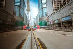 Opinión de la calle de Hong Kong Tsim Sha Tsui Imagen de archivo