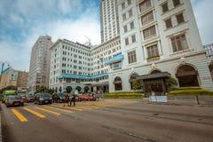 Opinión de la calle de Hong Kong Tsim Sha Tsui Fotografía de archivo