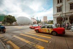 Opinión de la calle de Hong Kong Tsim Sha Tsui Foto de archivo