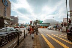 Opinión de la calle de Hong Kong Tsim Sha Tsui Fotos de archivo