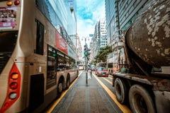 Opinión de la calle de Hong Kong Tsim Sha Tsui Fotografía de archivo libre de regalías