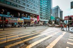 Opinión de la calle de Hong Kong Tsim Sha Tsui Imágenes de archivo libres de regalías