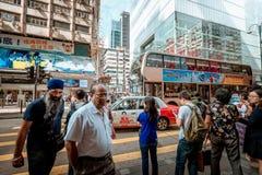 Opinión de la calle de Hong Kong Tsim Sha Tsui Foto de archivo libre de regalías