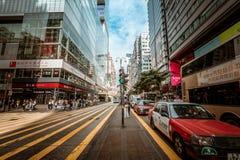 Opinión de la calle de Hong Kong Tsim Sha Tsui Fotos de archivo libres de regalías
