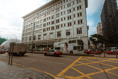Opinión de la calle de Hong Kong Tsim Sha Tsui Imagen de archivo libre de regalías