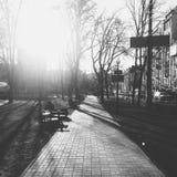 Opinión de la calle de Kiev Fotografía de archivo
