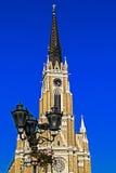Opinión de la calle de la catedral Santa Maria en Novi Sad Fotografía de archivo libre de regalías