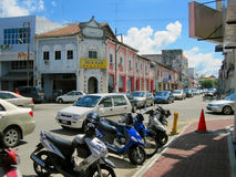 Opinión de la calle de la ciudad de Malasia Muar Imagen de archivo