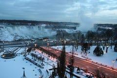 Opinión de la calle de la ciudad de Niagara Imágenes de archivo libres de regalías