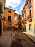 Opinión de la calle de la ciudad de Novelda Fotografía de archivo libre de regalías