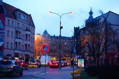 Opinión de la calle de la noche Fotografía de archivo libre de regalías