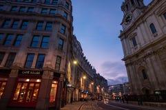 Opinión de la calle de Londres Imagenes de archivo