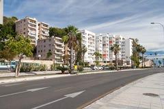 Opinión de la calle de Málaga Fotografía de archivo libre de regalías