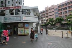 Opinión de la calle de Mong Kok en Hong Kong Fotografía de archivo