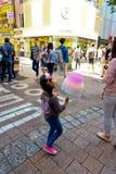 Opinión de la calle de Myeongdong Imágenes de archivo libres de regalías