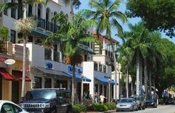 Opinión de la calle de Nápoles, la Florida Foto de archivo libre de regalías
