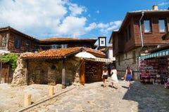 Opinión de la calle de Nessebar Fotos de archivo libres de regalías