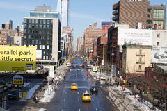 Opinión de la calle de New York City Fotos de archivo
