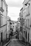 Opinión de la calle de París Imagen de archivo