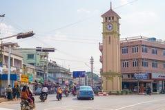 Opinión de la calle de Pyin Oo Lwin Fotografía de archivo libre de regalías