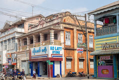 Opinión de la calle de Pyin Oo Lwin Imagenes de archivo