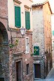 Opinión de la calle de Siena Fotografía de archivo