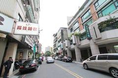 Opinión de la calle de Taichung Imagen de archivo