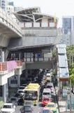 Opinión de la calle de Victory Monument en Tailandia Imagenes de archivo