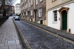 Opinión de la calle del área residencial Imágenes de archivo libres de regalías