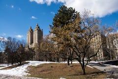 Opinión de la calle del Central Park Foto de archivo