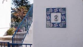 Opinión de la calle del estilo mediterráneo hermoso almacen de video