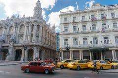 Opinión de la calle del La Havana Center, vida del cubano de la lechería Foto de archivo