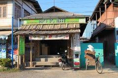 Opinión de la calle del lago Inle en Myanmar Fotos de archivo libres de regalías